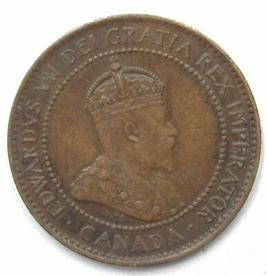 Canada 1907 Large Cent  Uncirculated Brown