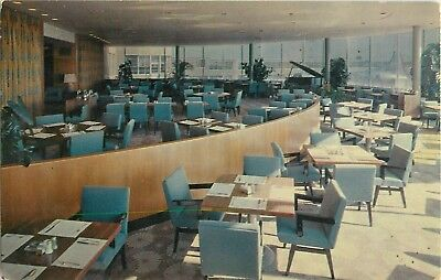1957 Skychef Dining Room, Amon Carter Field Airport, Fort Worth, Texas Postcard