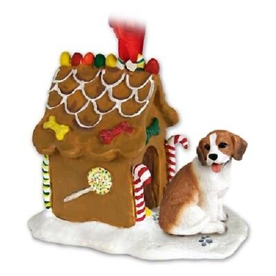 Cute BEAGLE GINGERBREAD DOG HOUSE Christmas ORNAMENT resin FIGURINE puppy NEW