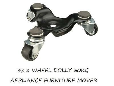 4 X 3 Wheel Dolly 60Kg Appliance Furniture Mover
