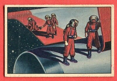 1951 Bowman Jets,Rockets,Spacemen Card #8 Looking at the Universe
