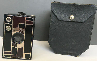Vintage Kodak Beau Brownie 2A 1930's Walter Teague Design/ Art Deco W/ Case