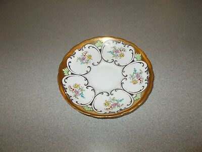 Rare vintage Tuscan fine english bone china hand painted numbered saucer plate