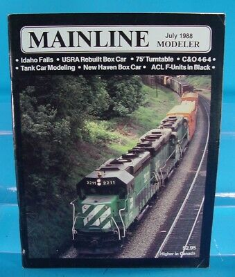 Mainline Modeler Magazine July 1988 C&0 4-6-4,75' Turntable,tank Car,acl F Unit