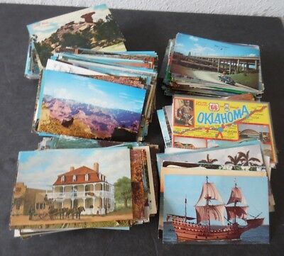 Lot of 500 Standard Size Chrome Postcards Mostly US Views