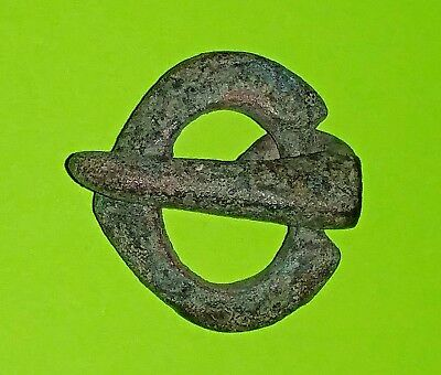 Ancient ROMAN BUCKLE 100 AD nice green patina old solid tool artifact antique ae