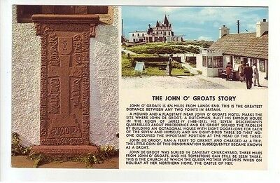 The John O Groats Story Hotel & Groot Tombstone Caithness JB White Old Postcard