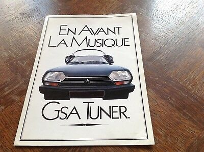 Citroen GSA TUNER Catalogue interne plan media