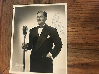 Lew Fine Comedian Master Of Ceremonies Autographed Photograph To Gus & Family
