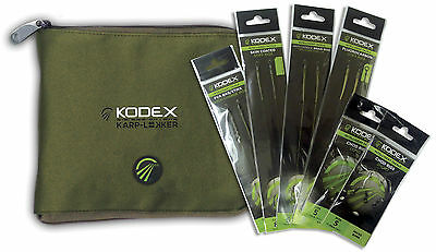 NEW KODEX CARP RIGS PACK & WALLET BUNDLE Chod, stiff, stik, bottom pop-up rigs