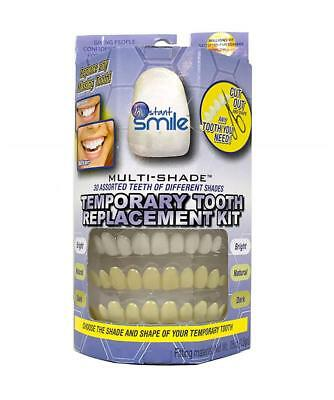 MULTI SHADE TOOTH REPLACEMENT KIT W 4 PKGS EX BEADS easy replace missing tooth