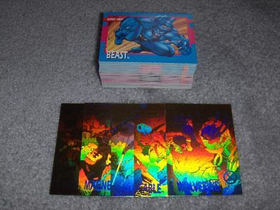1992 Impel X-Men Set(1-100) plus (5)Holograms(XH-1 thru XH-5). Mt-Nr/Mt.