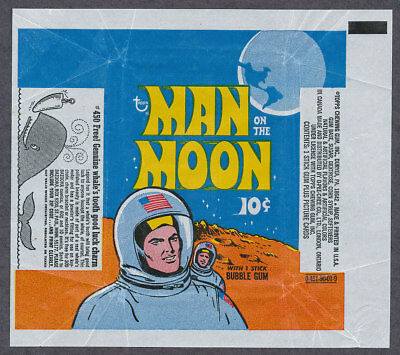 Topps Man On The Moon 10 cent Wrapper.  No tears, nicks or holes.  Normal folds.