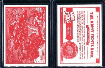 2015 Topps Mars Attacks Occupation Kickstarter Woodcut Complete 8 Card Set (B)
