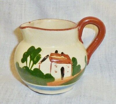 lovely holiday motto small jug pitcher watcombe torquay waste not want not old