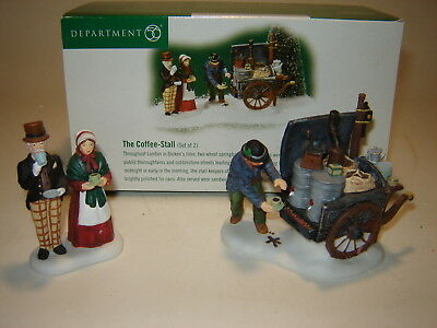 Dept 56 Dickens Village - The Coffee Stall - Set of 2