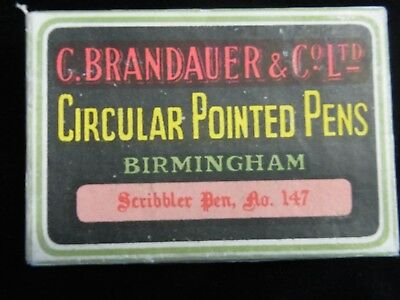 C BRANDAUER Circular pointed pen nibs Scribbler No.147 - SEALED BOX
