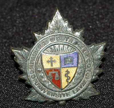 C.O.T.C. Laval University ENAMEL! cap badge with roundell