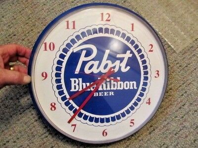 Vintage ~ Pabst Blue Ribbon Beer Advertising Clock