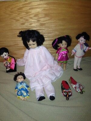 Vintage Asian Dolls Lot