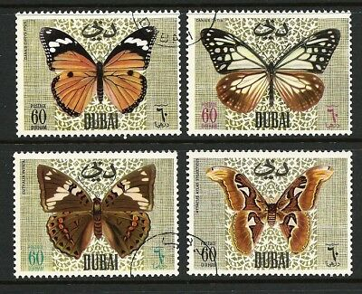 1968 Dubai - Butterflies and Moths (4) CTO