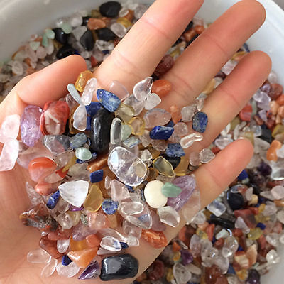 Colorful Natural Quartz Crystal Mini Stone Rock Chips Specimens Healing Lot/50G