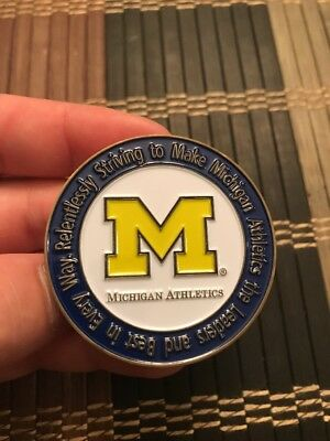 Very Limited University Of Michigan Athletics Challenge Coin. Very Very RARE