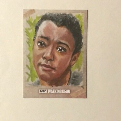 2018 THE WALKING DEAD ALEXANDRIA SKETCH CARD by PHIL HASSEWER of SASHA WILLIAMS