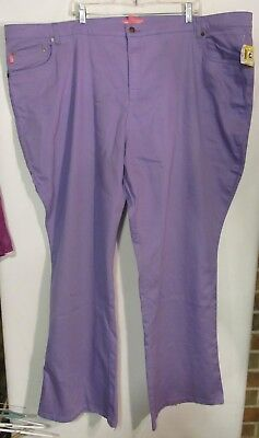 Woman Within Plus sizw 32T Purple Jeans relaxed NWOT Lot#R