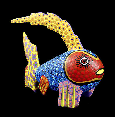 Fish Oaxacan Wood Carving | Alebrije | Colorful Mexican Folk Art | Mexico