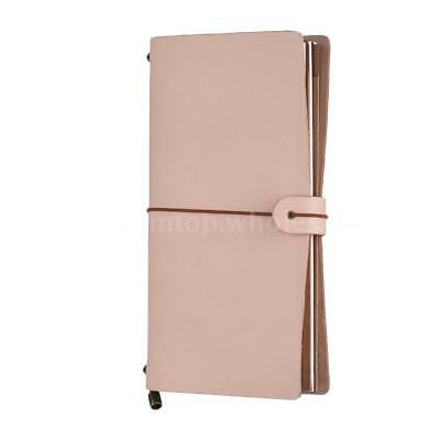 Leather Refillable Vintage Travel Journal Schedule Diary Note Pad Book Notebook