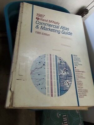RARE 1987 Large Rand Mcnally Commercial Atlas & Marketing Guide