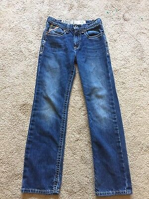 EXCELLENT USED CONDITION Boys ARIAT Jeans Size 14 B5 SLIM Adjustable Waist