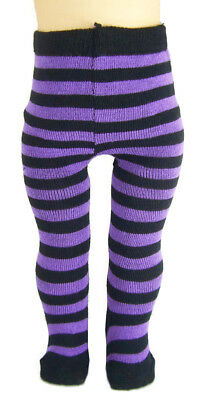 """For 18"""" American Girl Doll Clothes Purple/Black Striped Thick Tights Accessories"""