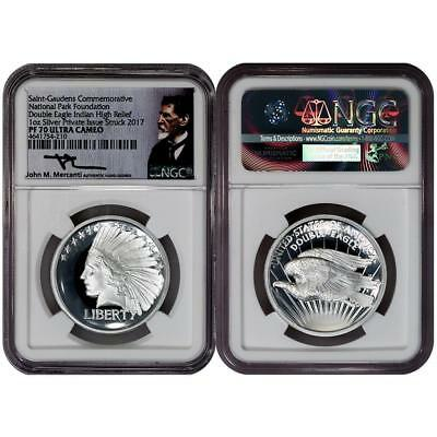 2017 Saint Gaudens High Relief Silver Double Eagle Indian - NGC PF 70 UCAM