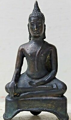 Genuine Early South East Asian Bronze Buddha Thai Burmese - Extremely Rare L@@k