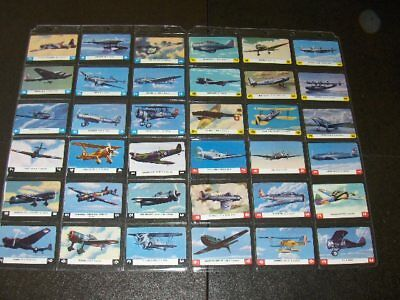 Set (36) of 1940 s Leaf Card-O Series B Playing Card Back Aeroplane Cards.  Mint