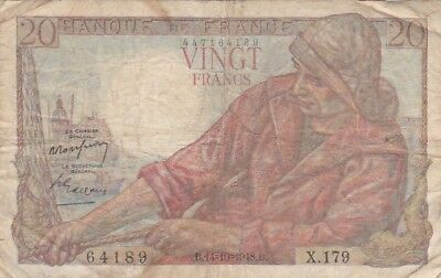 1948 France 20 Francs Note, Pick 100c