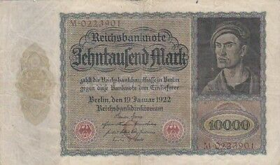 1922 Germany 10,000 Mark Note, Pick 70