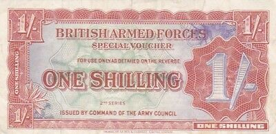 1948 Great Britain 1 Shilling Armed Forces Note, 2nd Issue, Pick M18a