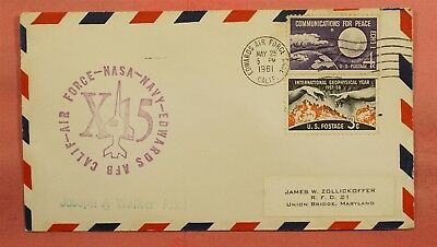 1961 Space X-15 Rocket Plane Flight Joseph Walker Pilot Edwards Afb