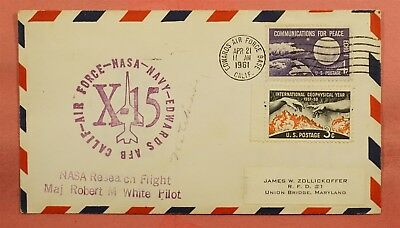 1961 Space X-15 Rocket Plane Nasa Research Flight Robert White Pilot Edwards Afb