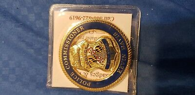 Baltimore police challenge coins