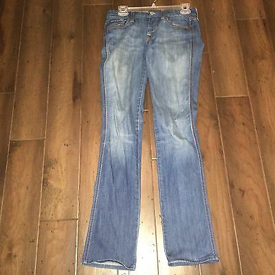 7 For All Mankind Kate In Holland Straight Leg Jeans Blue Denim 25 33 Inseam