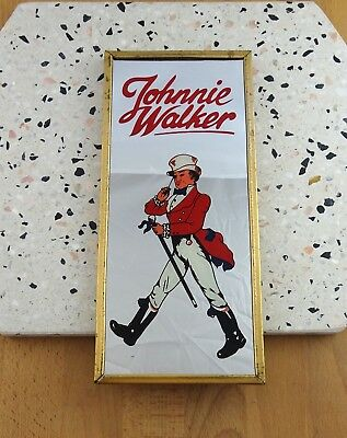 Vintage Retro Johnnie Walker Bar Mirror, Man Cave Display