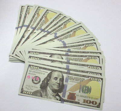 100 Sheets USA Banknote 100Dollar Fake Currency Bills Bank Note Paper Money New
