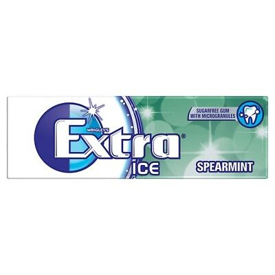 Wrigley's Extra Ice Spearmint Flavour Chewing Gum - 30x 14g Packs - UK Snacks