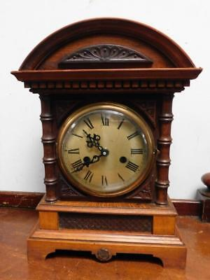 old mantel clock now fitted with battery movement