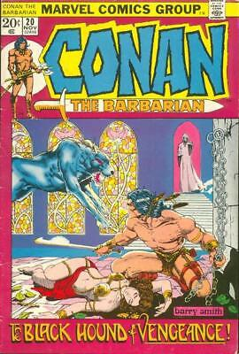 CONAN THE BARBARIAN #20 G, Barry Smith A, Marvel Comics 1972 Stock Image