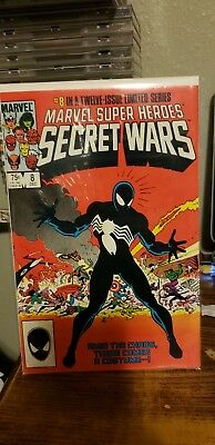 Secret Wars #8 comic book-1st Black Costume Spider-Man-1984 NM- Free shipping